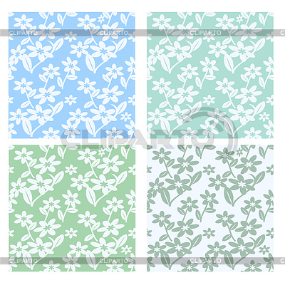 4 pastel seamless flower patterns | Stock Vector Graphics |ID 3275303
