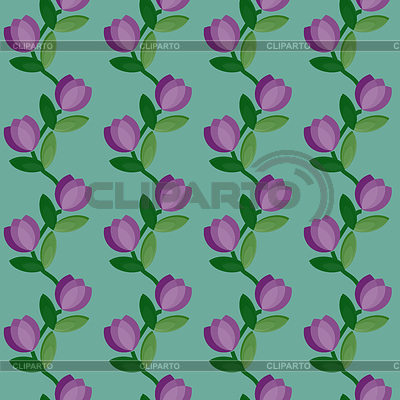Seamless floral curves pattern | Stock Vector Graphics |ID 3275315