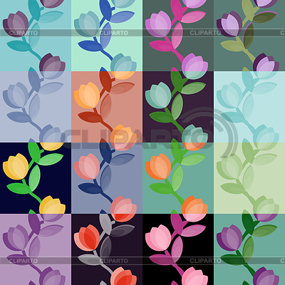 Set of multicolored floral seamless patterns | Stock Vector Graphics |ID 3275319