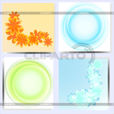 Set of 4 abstract backgrounds | Stock Vector Graphics |ID 3275321