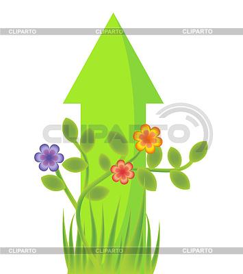 Pfeil-Wachstum mit Pflanzen Illustration | Stock Vektorgrafik |ID 3328039