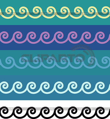 Seamless spirals ornamental borders | Stock Vector Graphics |ID 3328571