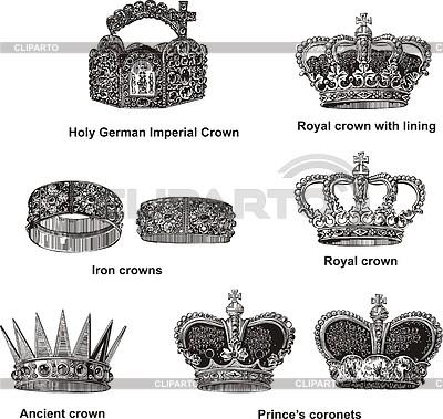 German royal crowns   Stock Vector Graphics  ID 3350393