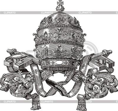 Tiara papal | Ilustración vectorial de stock |ID 3350409