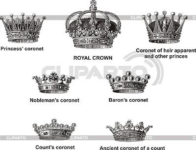 Swedish and norwegian crowns | Stock Vector Graphics |ID 3350430