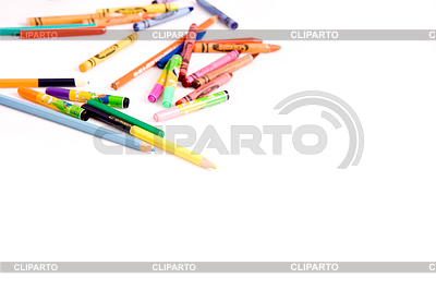 Felt-tip pens and pencils | High resolution stock photo |ID 3212477
