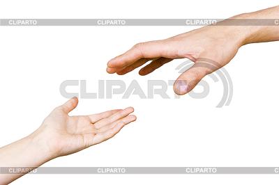 Hand des Kindes greift Hand eines Menschen | Foto mit hoher Auflösung |ID 3214555