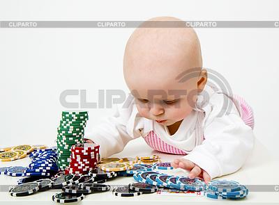 Детские игры в покер фишки | Фото большого размера |ID 3278708