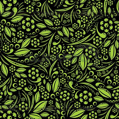 Seamless wallpaper. Green vegetation repeating pattern | Stock Vector Graphics |ID 3327923