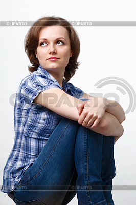 格子縞のシャツとジーンズの女の子 | 高解像度写真 |ID 3329344