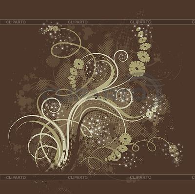 Grunge floral background | High resolution stock illustration |ID 3232739