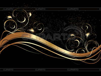 Abstract waves with floral ornament | Stock Vector Graphics |ID 3270798