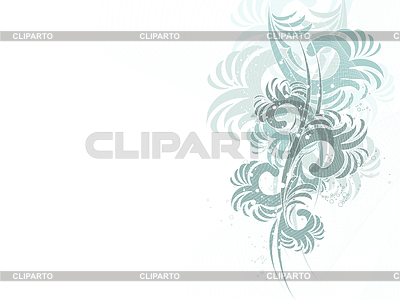 Abstract waves with floral ornament | Stock Vector Graphics |ID 3270814