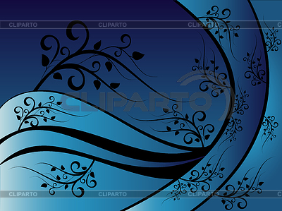 Blue floral ornament | Stock Vector Graphics |ID 3270975