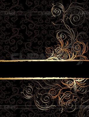 Фон черный с золотыми узорами