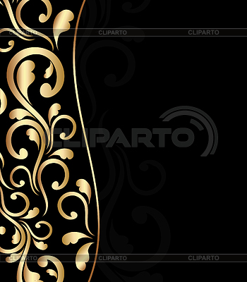 Black bacground with floral ornament | Stock Vector Graphics |ID 3273480
