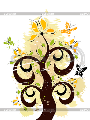 Grunge floral ornament | Stock Vector Graphics |ID 3291317