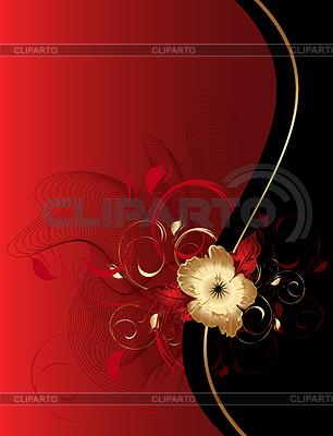 Glückwunschkarte mit Linien und einer Blume | Stock Vektorgrafik |ID 3304901