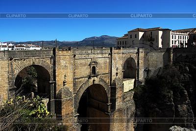 Historical bridge in Ronda, Spain   High resolution stock photo  ID 3226291