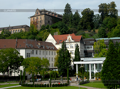 Caracalla Spa and New Castle Baden-Baden | High resolution stock photo |ID 3227931
