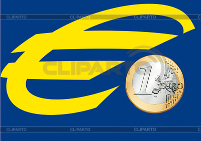 Euro sign and euro coin | High resolution stock illustration |ID 3228119
