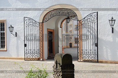 Wrought iron gate at the Ettlingen Castle   High resolution stock photo  ID 3229789