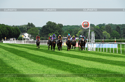 Finish at the horse races in Iffezheim | High resolution stock photo |ID 3229845