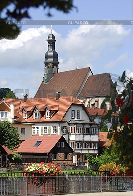 Old Gernsbach with church | High resolution stock photo |ID 3230066