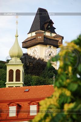 Clock tower in Graz   High resolution stock photo  ID 3230106