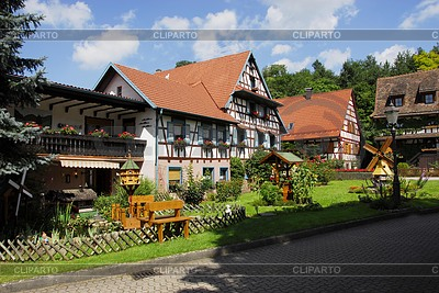 Half-timbered houses in Schwarzwald | High resolution stock photo |ID 3236578