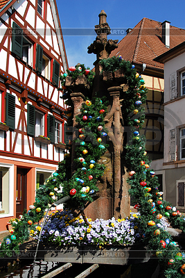 Easter wells in Gernsbach | High resolution stock photo |ID 3284535