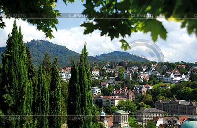 Old Town district and baths in Baden-Baden | High resolution stock photo |ID 3289368
