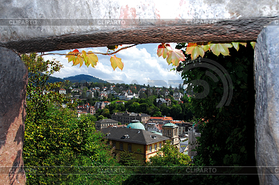 Old Town district and baths in Baden-Baden | High resolution stock photo |ID 3289369