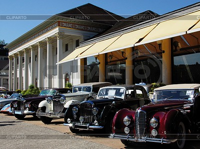 Oldtimer Exhibition in front of the Kurhaus Baden-Baden | High resolution stock photo |ID 3291116