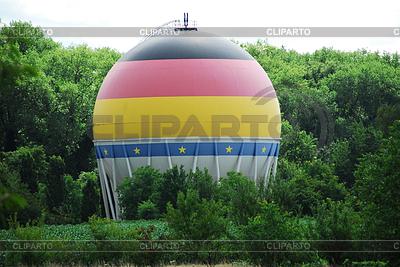 구형 가스 탱크   높은 해상도 사진  ID 3352742
