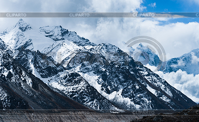 Mountain peaks and glacier in Himalayas | High resolution stock photo |ID 3234544
