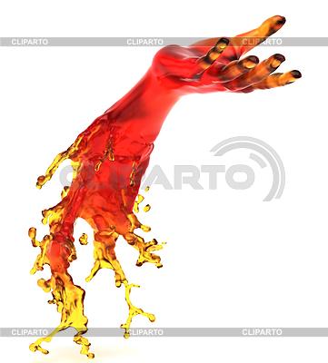 Helping hand: red liquid shape | High resolution stock illustration |ID 3234906