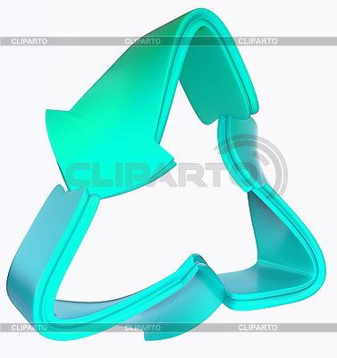 Recycling and environment blue symbol | High resolution stock illustration |ID 3234925