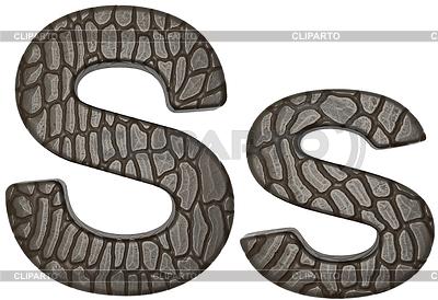 Alligator Haut font S Klein-und Großbuchstaben | Illustration mit hoher Auflösung |ID 3235239