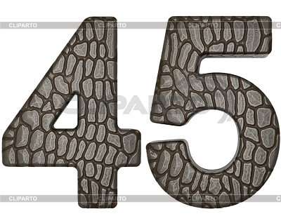 Alligator skin font 4 5 digits | High resolution stock illustration |ID 3235669