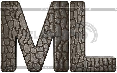Alligator Haut font M und L Großbuchstaben | Illustration mit hoher Auflösung |ID 3236177