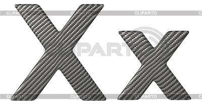 Kohlefaser X Schriftart Kleinbuchstaben und Großbuchstaben | Illustration mit hoher Auflösung |ID 3236198