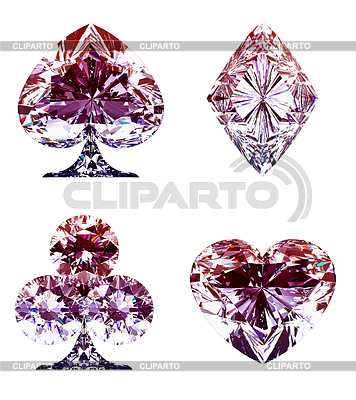 Kolorowe liliowy Diament kart Garnitury | Foto stockowe wysokiej rozdzielczości |ID 3236216