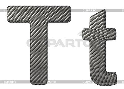 Czcionki z włókna węglowego T małe i duże litery | Stockowa ilustracja wysokiej rozdzielczości |ID 3236389