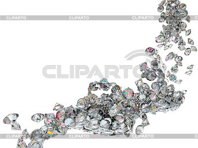 Large diamonds or gems flow | High resolution stock illustration |ID 3236417