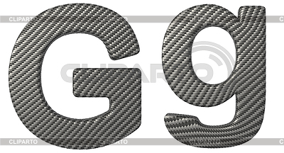 Carbon fiber font G lowercase and capital letters | High resolution stock illustration |ID 3236478