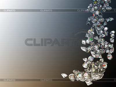 Large diamonds or gems flow | High resolution stock photo |ID 3236526