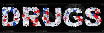 마약 단어 : 알약과 정제 모양 | 높은 해상도 사진 |ID 3236978