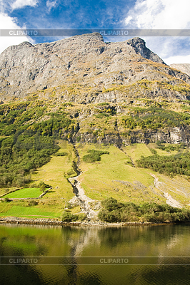 Berg der norwegischen Fjord in Norwegen   Foto mit hoher Auflösung  ID 3238399