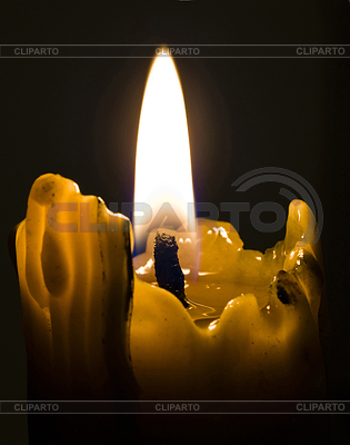 Its macro of candle light shot in the darkness | High resolution stock photo |ID 3292828